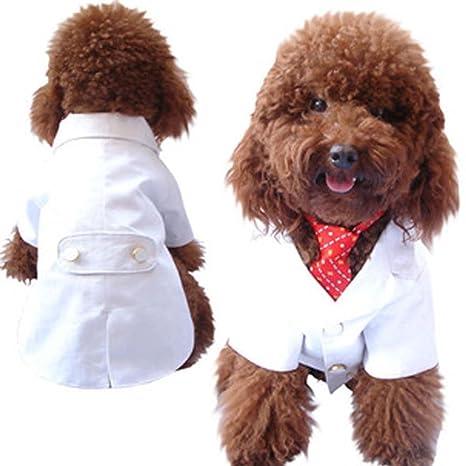 SKJIND Ropa de boda para cachorro, traje de esmoquin para perro ...