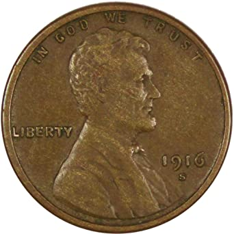 S Lincoln Wheat Cent Set Average Circulated 1916 P D
