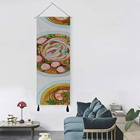 Amazon Com Gjianbing Vietnamese Soup Wall Tapestry Room Decor Tapestry 13 Inch Width X 47 Inch Long Modern Home Decor Bar Wall Art Decor Wall Art Decoration Home Kitchen