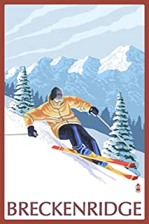 product image for Breckenridge, Colorado - Downhill Skier 26229 (24x36 Signed Print Master Art Print - Wall Decor Poster)