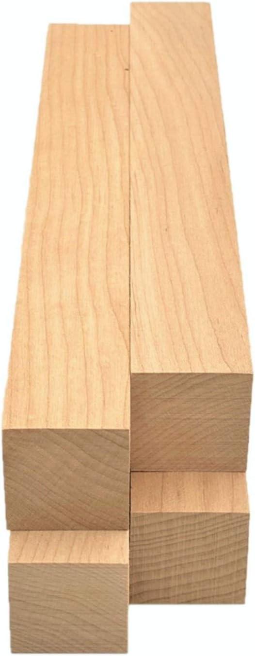 4pc Maple Lumber Square Turning Blanks 1.5 x 1.5 x 12