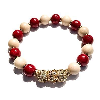 1464cd9c8 Amazon.com: Stonez Kappa Alpha Psi Beaded Bracelet: Jewelry