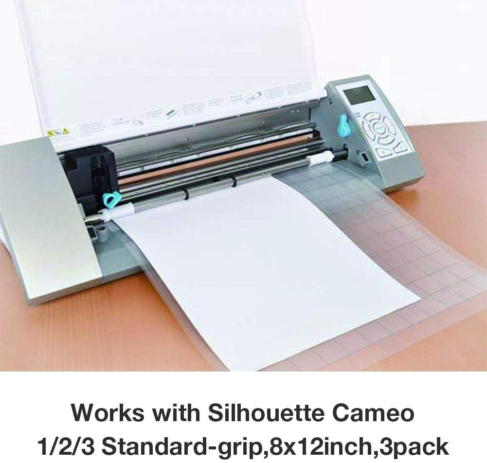 3 ST/ÜCKE 12 Zoll Ersatz Schneidematte Transparente Klebematte F/ür Silhouette Cameo Plotter Maschine attractively awhao Schneidematte