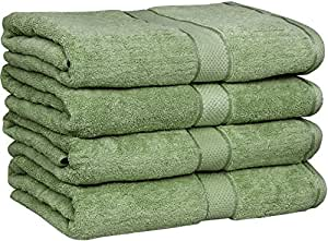 premium cotton bath towels 4 pack sage green 30 x 56 inch ringspun cotton for maximum. Black Bedroom Furniture Sets. Home Design Ideas