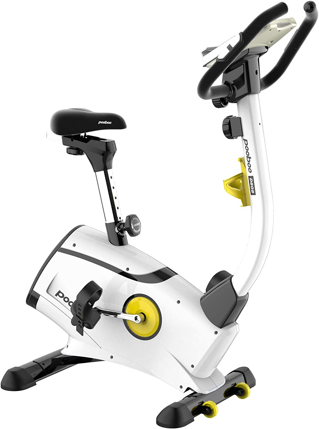 L NOW Exercise Bike, Indoor Cycling Bike, Belt Drive Stationary Bike, Magnetic Resistance Upright Bike With LCD Display for Women Wen Senior Home Office