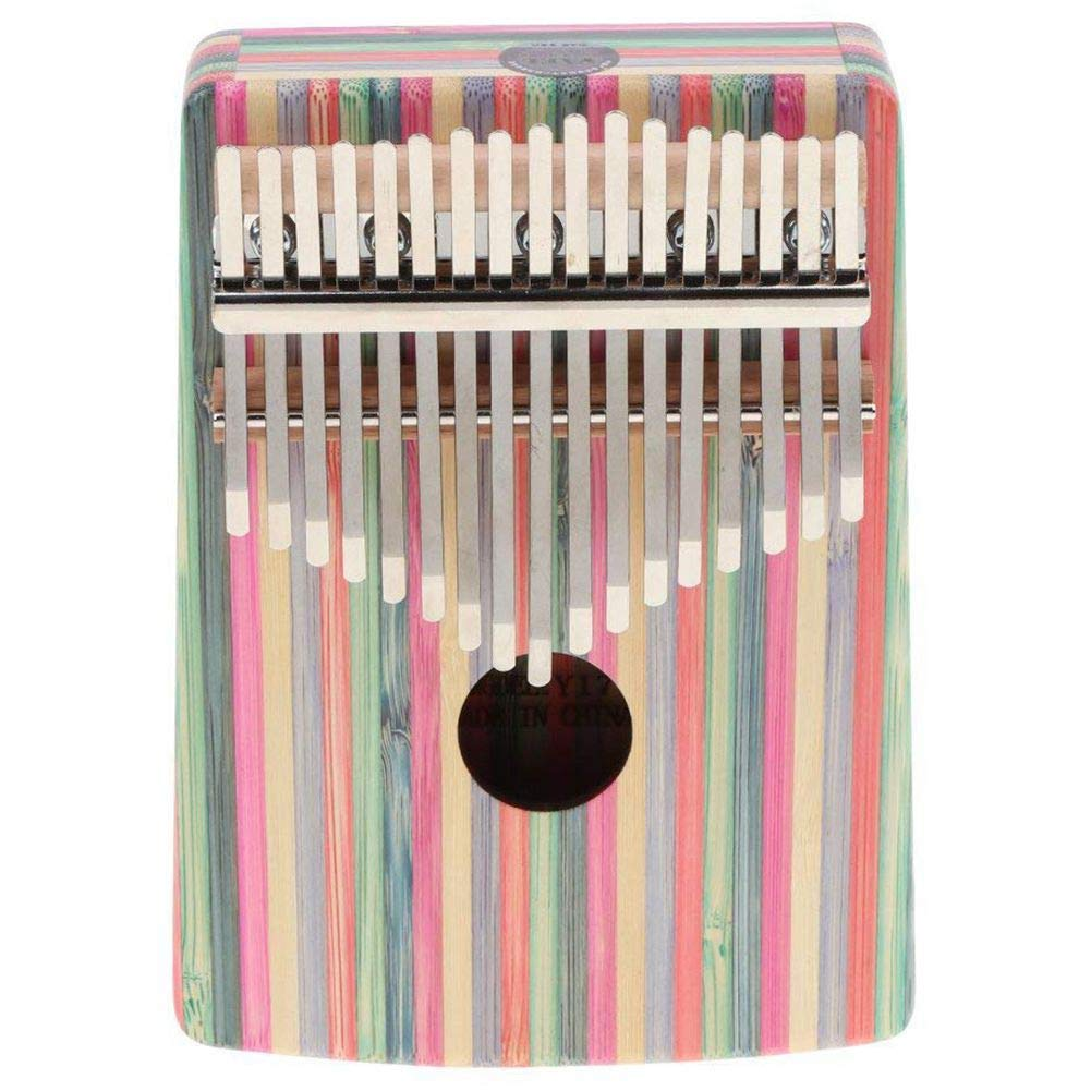 TOOGOO Kalimba 17 Key Thumb Piano Finger Percussion for Children Music Toy Gift - pink Streamline Pattern