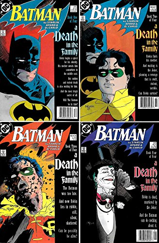 Batman #426, 427, 428, 429 A Death in the Family Complete Story #426-429 (DC Comics 1988 - 4 Comics) (Batman A Death In The Family 1988)
