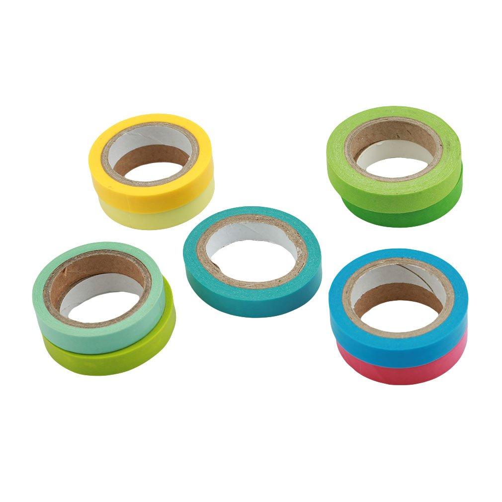 Meolin 10 Color Decorative Children's Craft Tape Multi-Use Labeling Tape