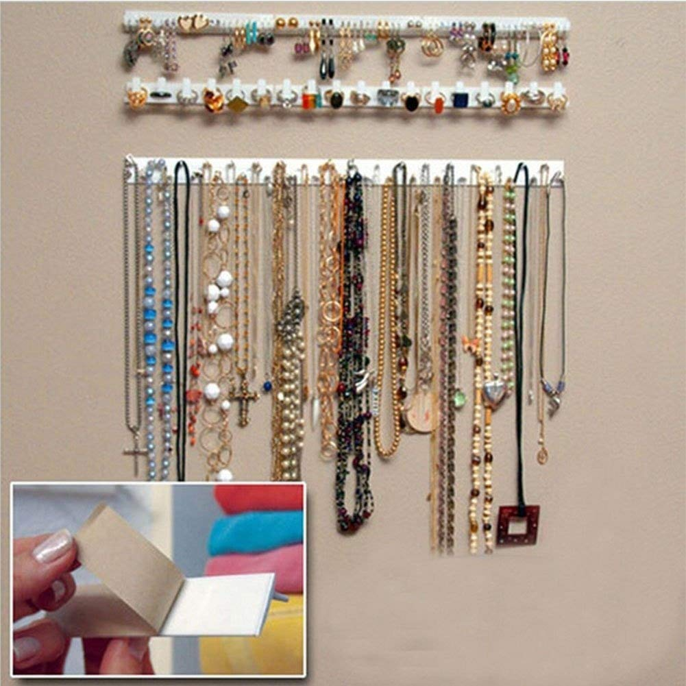 9-in-1 Self Adhesive Wall Hanging Hooks Jewelry Storage Organizer Necklace Hanger Store Accessories osierr6