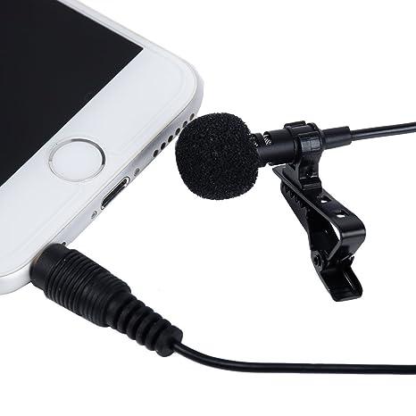 wangxinl Mini Micro corbata Lavalier solapa micrófono Micro Clip ...