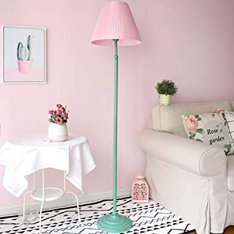 0711LDD - Lámpara de pie para mesita de noche de dormitorio de niña, color rosa: Amazon.es: Iluminación