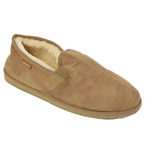 Shepherd - Zapatillas de estar por casa para hombre marrón marrón: Amazon.es: Zapatos y complementos