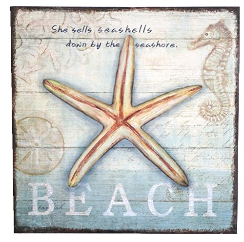 - Beach Shell Sign, She Sells Seashells Down By the Seashore