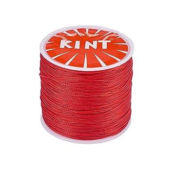 235230adf749 PandaHall Elite 1 Rollo 116 Yards 0.5 mm Rojo Cordón de algodón Hilo  Encerado Redondo para Hacer bisuteria Pulseras Collar Hilo para Abalorios   Amazon.es  ...