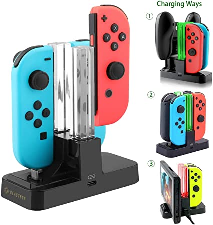 Amazon.com: Beastron 5 in 1 Switch Controller Charger, Joy ...