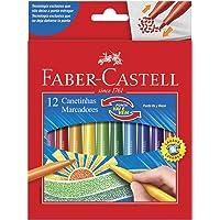 Canetinha Vai e Vem 12 Cores, Faber-Castell, 15.0112VVZF, Multicor
