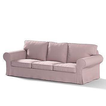 Dekoria Ektorp 3 Sitzer Sofabezug Nicht Ausklappbar Sofahusse Passend Für  Ikea Modell Ektorp Rosa Ektorp