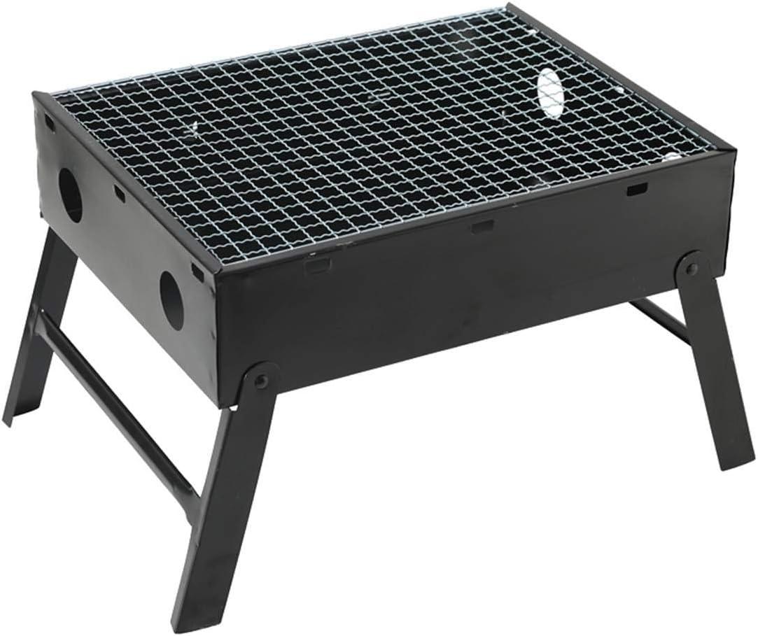 LWQ Metal Hierro Barbacoa Grill, Plegables portátiles de Barbacoa de carbón Barbacoas de Camping al Aire Libre Graden Viaje Artículos para cocinar Herramientas para Barbacoa Accesorios