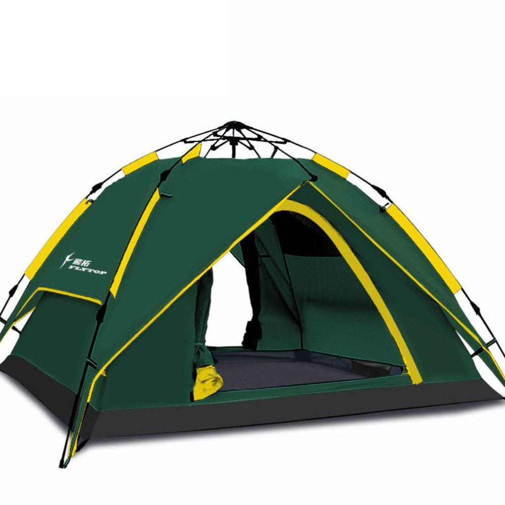 TY&WJ Campingzelt Vollautomatische Geschwindigkeit Offen Kuppelzelte Double Layer Tipi Für Outdoor-sportarten Wandern Reise Dual-use 4-jahreszeiten 3-4 Personen