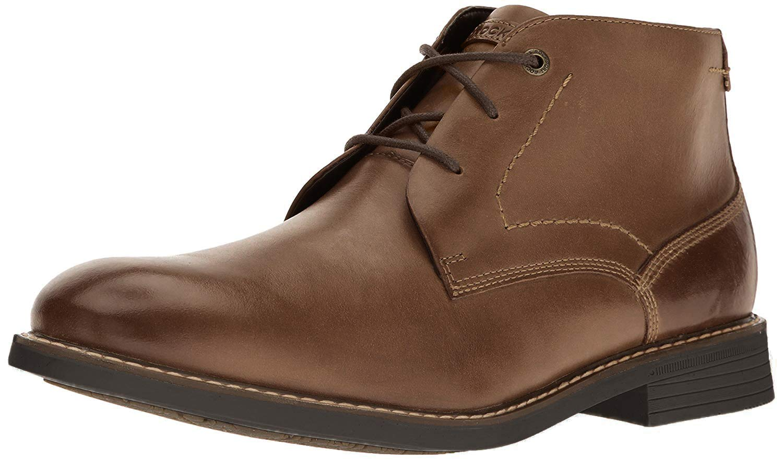 Rockport Men's Classic Break Chukka Boot- Dark Brown Leather-6.5 W by Rockport
