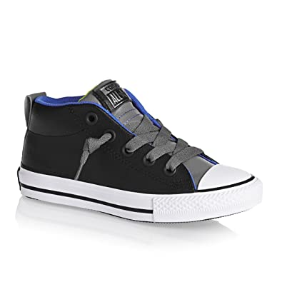 ec4b0c010deb57 Converse Kids K All Star HIGH Street MID Shoes Leather Black Charcoal Size 2