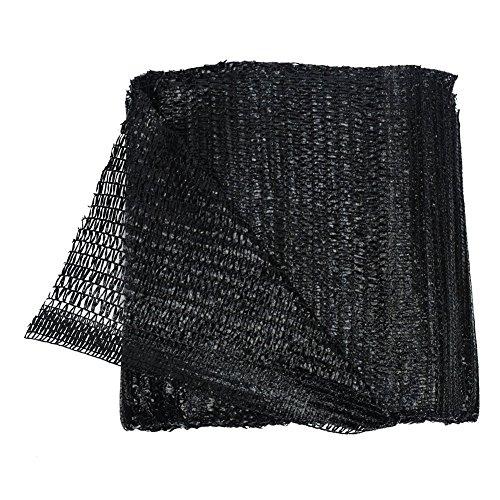 40% Black 6.5'x16' Sun Mesh Shade Sunblock Shade UV Resistant Net for Garden Flower Plant ()