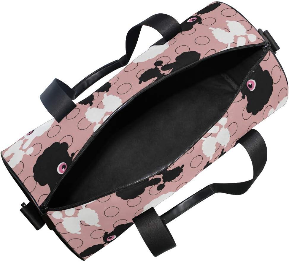 MALPLENA Dog Beauty Drum gym duffel bag women Travel Bag