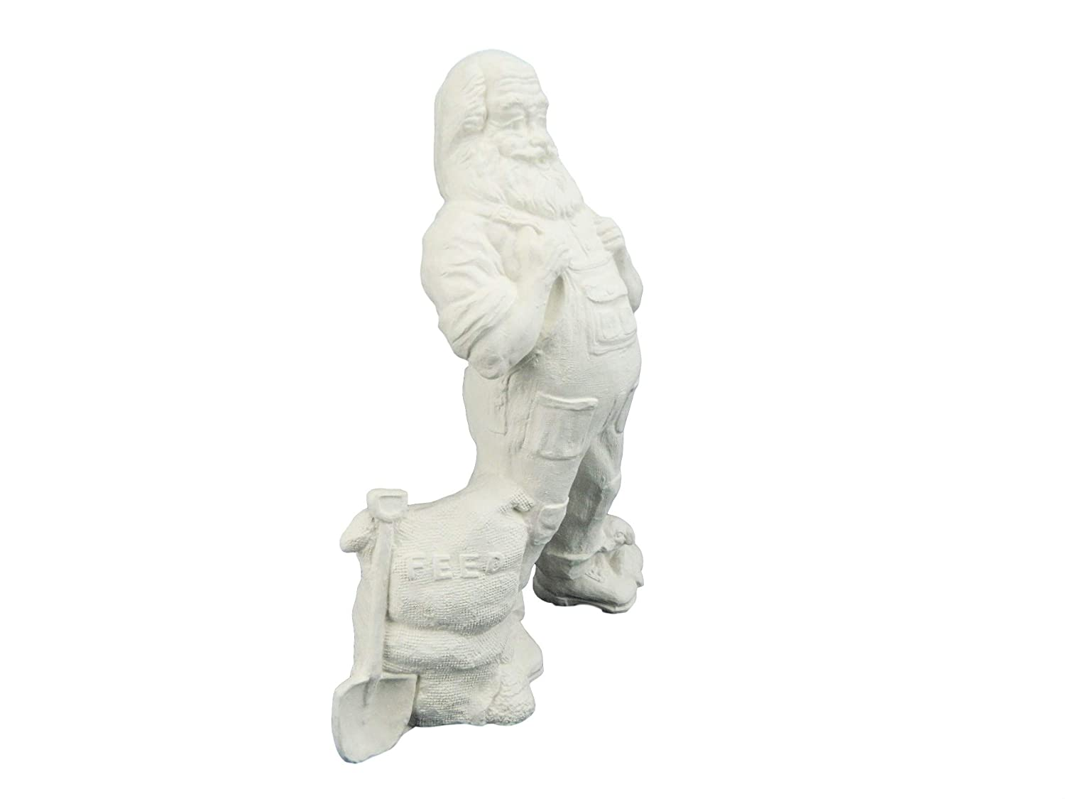 Ready to Paint Ceramic Bisque 10 Inches Farmer Santa