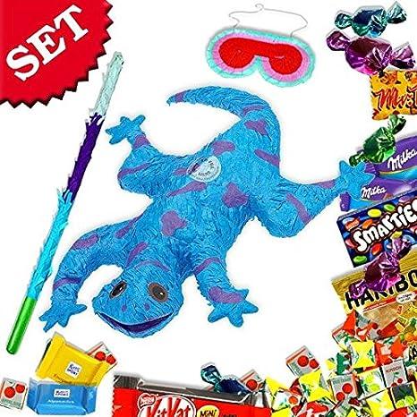 Pinata Set als Salamander/Gecko +Süßigkeiten für Kindergarten ...