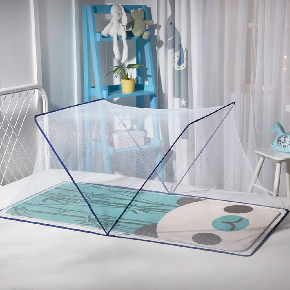 TYZNB Baby Mosquito net Summer Mosquito Folding Portable Free Installation Child Mosquito net Bed Full Cover 2019 New, Blue, 68 × 125cm