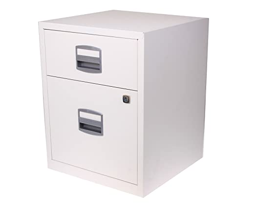 Bisley A4 2 Drawer Filing Cabinet on Wheels - Color: Chalk White ...