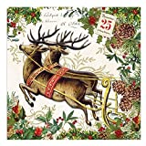 20-Count 3-Ply Paper Luncheon Napkins, Christmas Joy