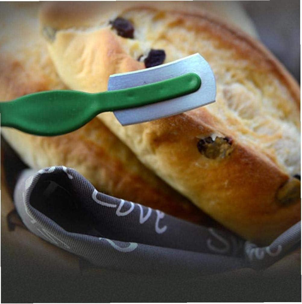 Hotaden con la Envoltura Principal Fabricante de la Pasta de Cocina Herramienta de puntuaci/ón de Seguridad Ligera Pan Smooth Prueba del Moho Curvo Cuchillas Tienda de la panader/ía