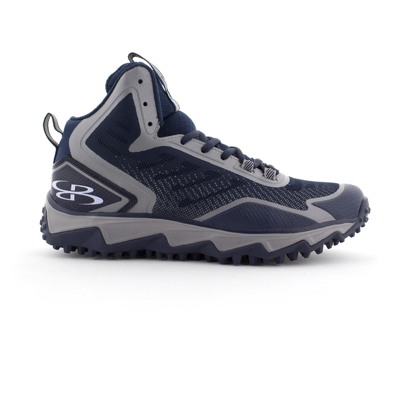 BoombahメンズBerzerk Mid Turf Shoes – 8カラーオプション – 複数のサイズ B0769WM8KR 10.5|ネイビー/グレー ネイビー/グレー 10.5