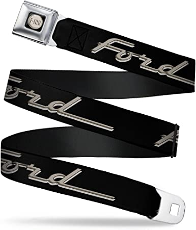 24-38 Inches in Length 1.5 Wide Buckle-Down Seatbelt Belt FORD//Classic Ford Trucks Vertical Stripe Black//Grays//Green//Red