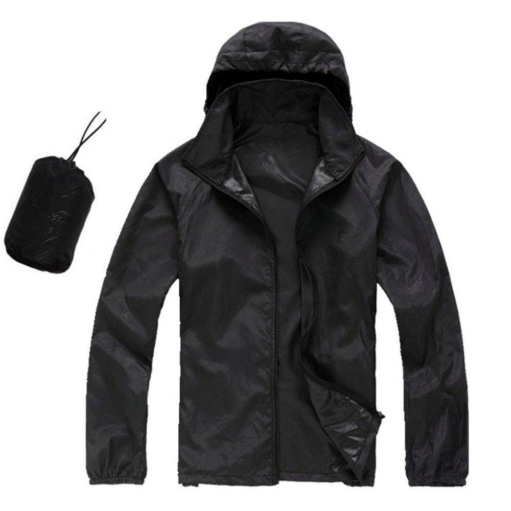 CN-Porter Men's Watertight Front-Zip Hooded Rain Jacket