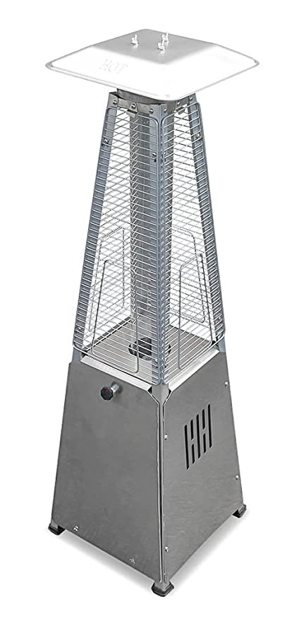 AZ Patio Heaters HLDS032 GTTSS Portable Table Top Stainless Steel Glass  Tube Patio Heater