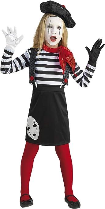 chiber Disfraces Disfraz de Mimo para Niña (Talla 8 (6-8 años ...
