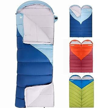Fundango Saco de Dormir con Bolsa de compresión, Ligero Saco de Dormir Impermeable de Gran