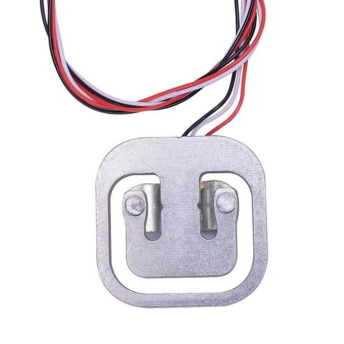 Sensor de pesaje Cylewet con calibre de tensión de resistencia eléctrica de celda de carga de 3 hilos, 50 kg, para Arduino (2 unidades), CLW1001: Amazon.es: ...