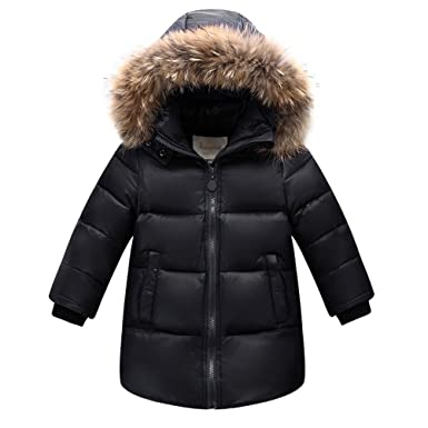 d0b70c71b869 CADong Boys Girls Stylish Winter Coat Warm Hooded With Fur Autumn or ...