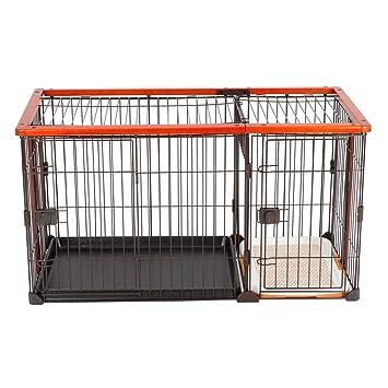 Casetas y cajas para perros Jaula para mascotas jaula para perros perro pequeño para interiores con ...