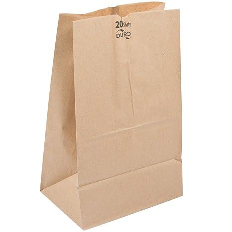 Amazon.com: Duro 20 lb. Shorty Brown Paper Bag 500 / Bundle ...
