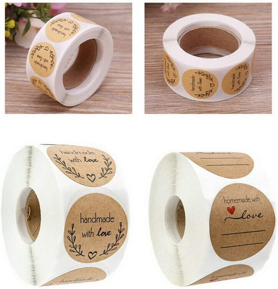 10 Style 500Pcs Handmade Love Thank You Stickers Wedding Birthday Party Labels