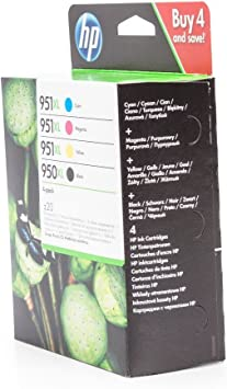 Original Tinte Passend Für Hp Officejet Pro 8600 Premium E All In One Hp 950xl 951xl C2p43ae 4x Premium Drucker Patrone Schwarz Cyan Magenta Gelb 1x 2300 3x 1500 Seiten Bürobedarf
