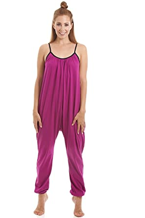 Amazon.com  Camille Womens Sleeveless Jersey Cotton Cerise Jumpsuit ... 12b199003