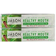 Jason Healthy Mouth Toothpaste with Tea Tree Oil & Cinnamon, 4.2 fl. oz. (Pack of 2)