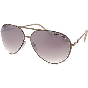 298efb5a092 Technomarine Cruise Original Aviator TMEW005 Mirrored Lens Thin Metal  Sunglasses Made In Italy