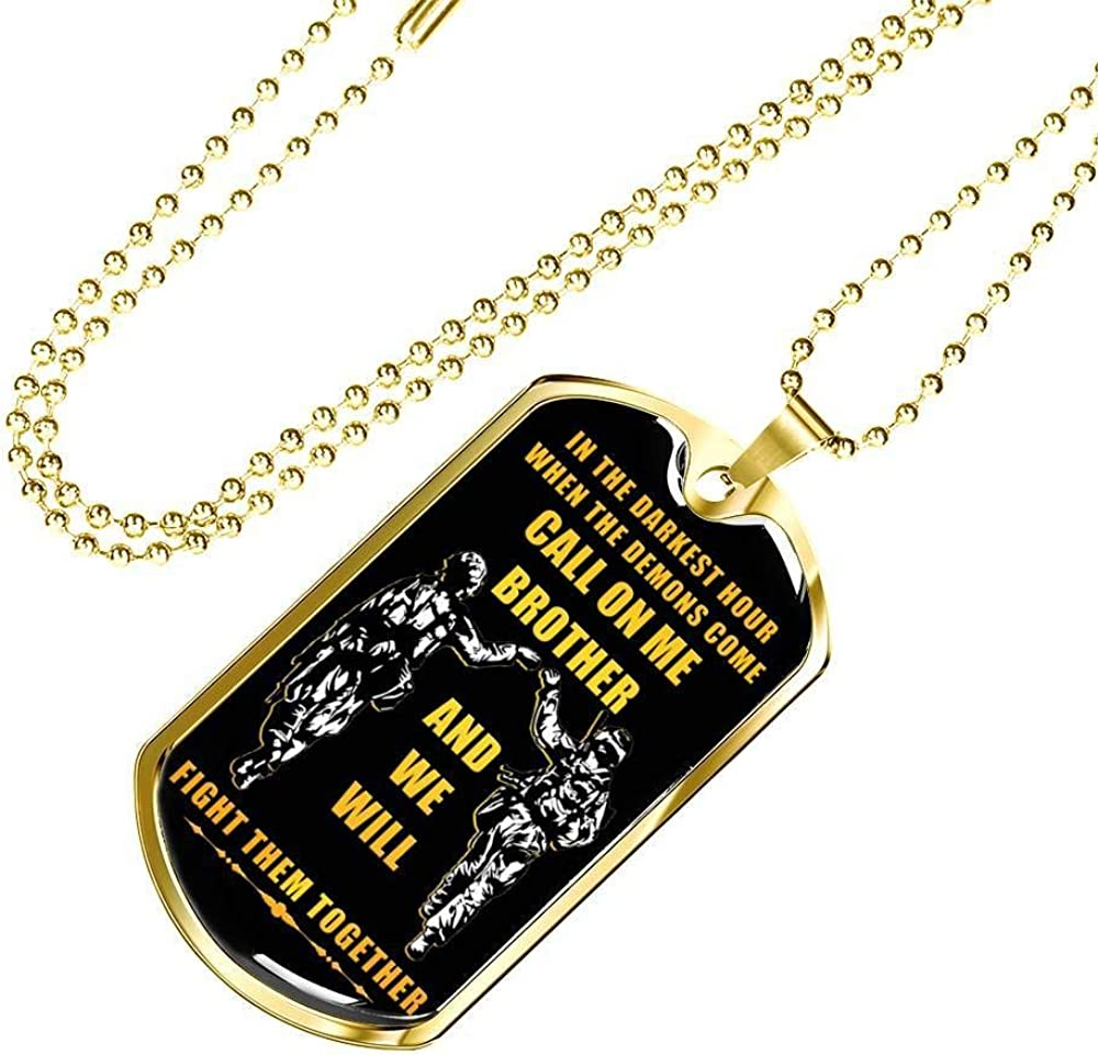 Family Gifts Inspirational Veteran Gift Big Brother Dog Tag Military Chain Call On Me Brother For America Army Encouragement Gift For Brother Men Boys On Anniversary Birthday Jewelry Amazon Com