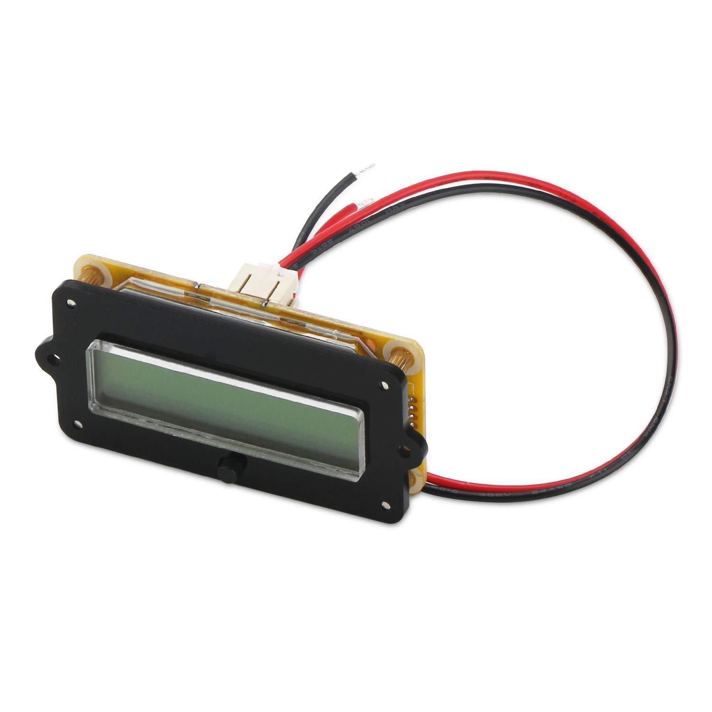 Droking Digital Battery Voltage Capacity Percent Monitor Tester DC 8-63V Battery Reader 12V 24V 36V 48V LCD Lead Acid Battery Indicator Electric Quantity Detector for Car Vehicle DC Battery Meter